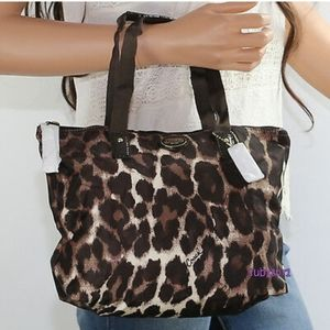 Coach Leopard Print Packable Tote Bag
